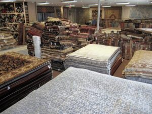 With its wide selection in terms of color, design, quality and prices, Rugport sells about 300 Oriental rugs a month.